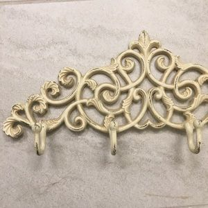 Ivory Wall Hook Rack